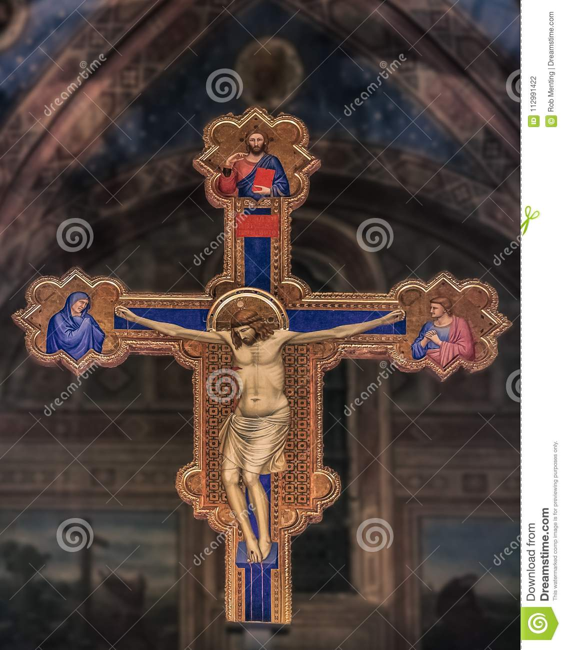 Cross in the Ognissanti church in Florence