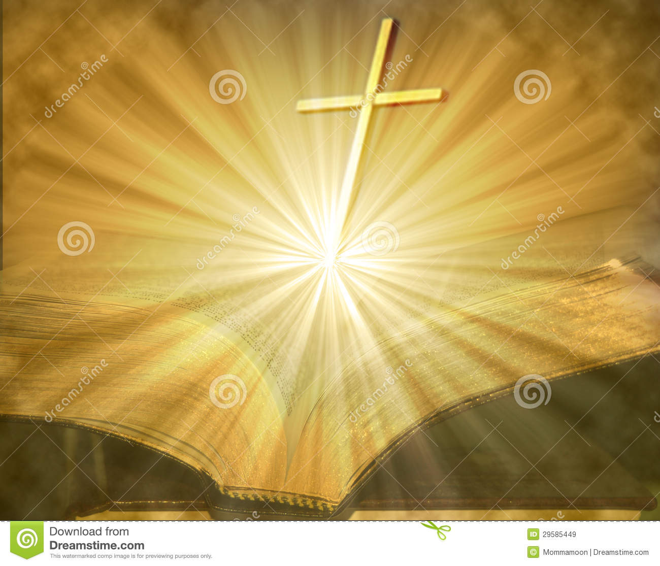 cross on open lighted bible royalty free stock images image