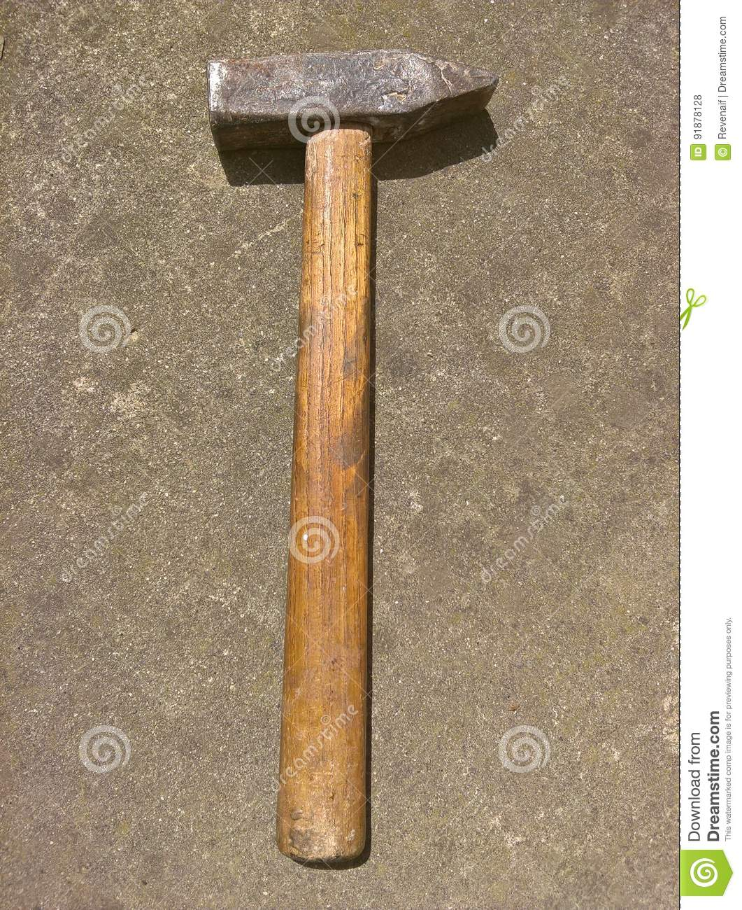 Cross Peen Hammer Retro Isolated Stock Image