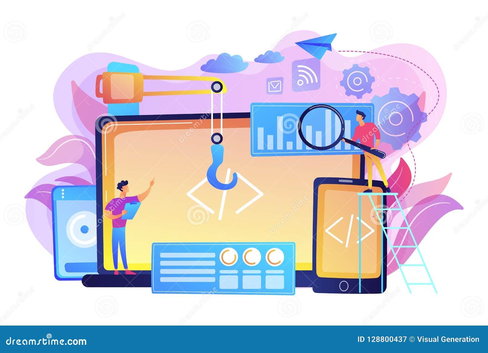 Cross-platform Development Concept Vector Illustration  Stock Vector
