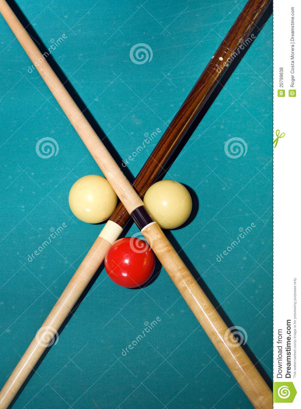 Cross With Pool Sticks Royalty Free Stock Photos Image 20799638