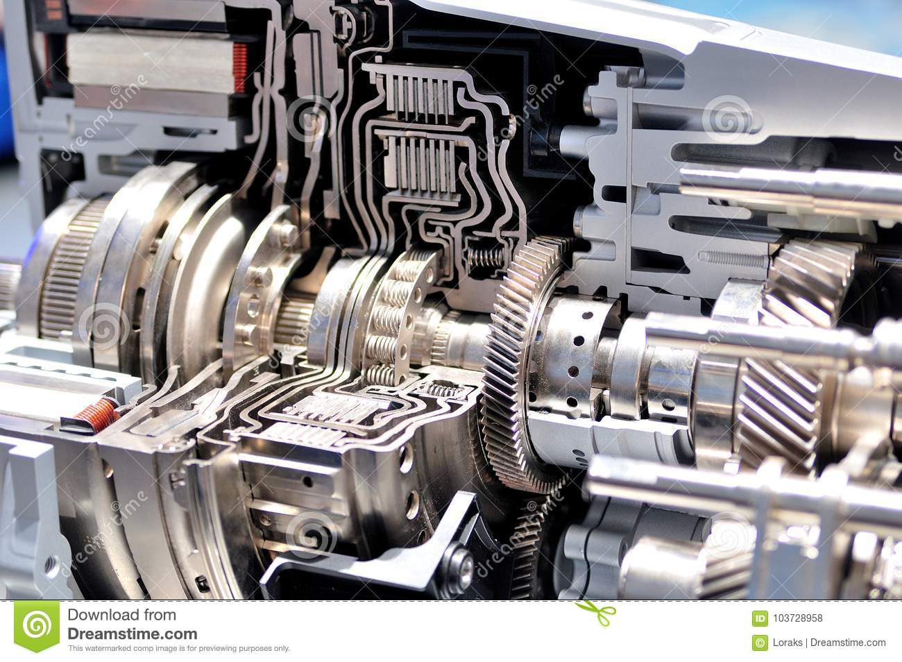 Cross Section Of An Automatic Transmission Stock Photo Image Of Power Gear 103728958