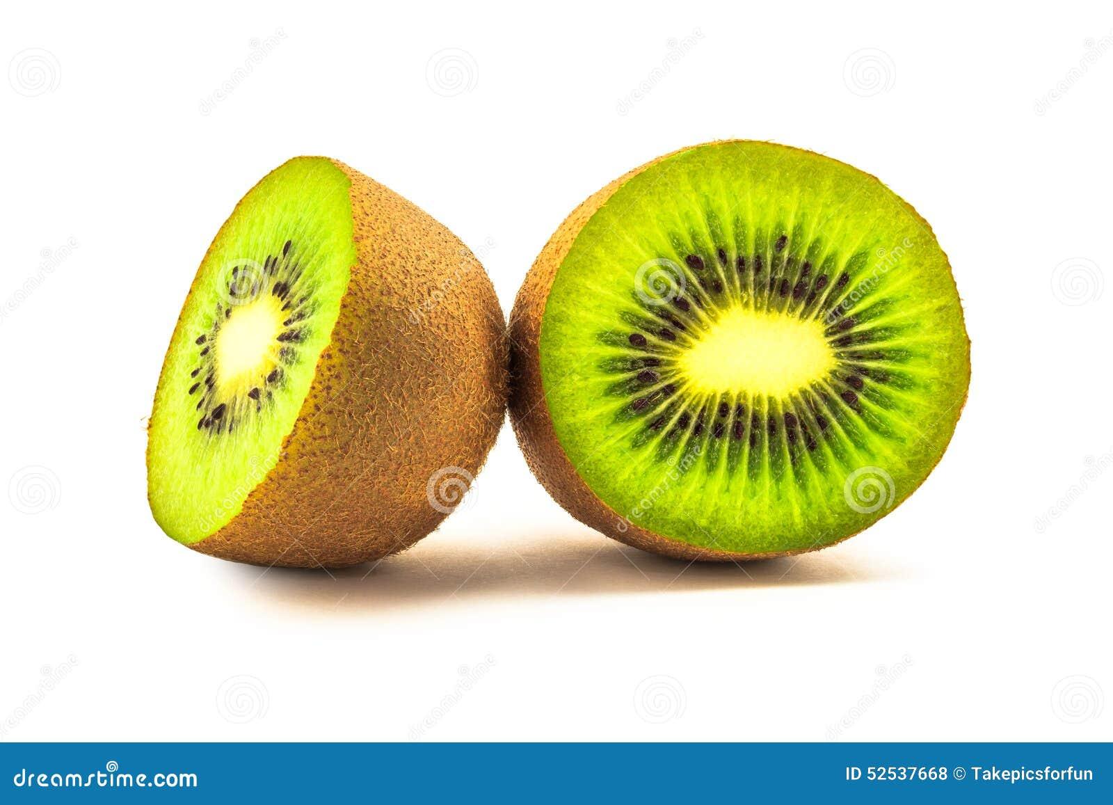Kiwi fruit cut in half close up - Cross Section Of Kiwi Fruit Stock Photo Image 52537668