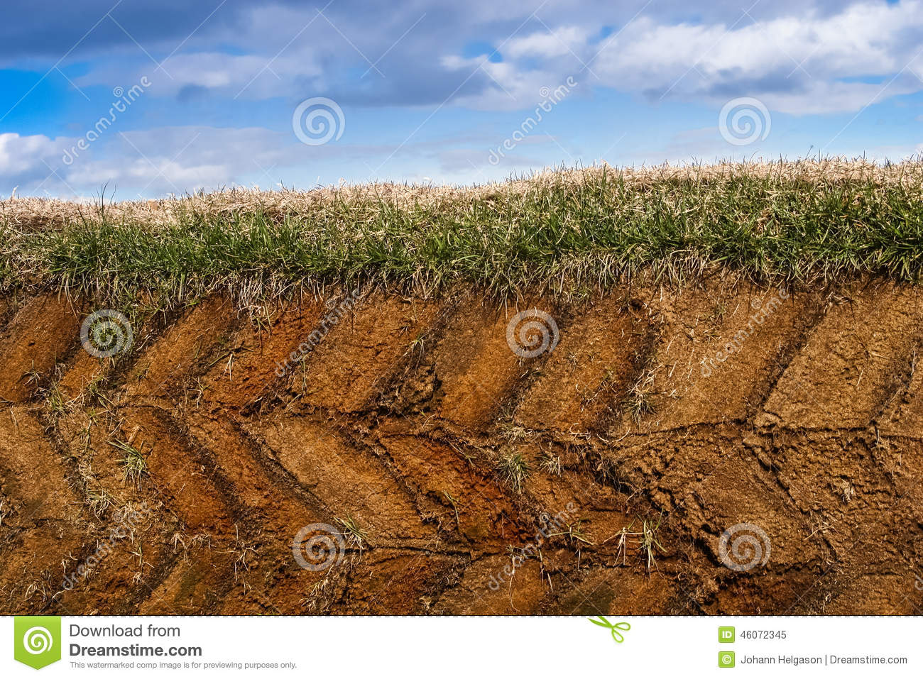 Cross section stock photo image 46072345 for Soil is composed of