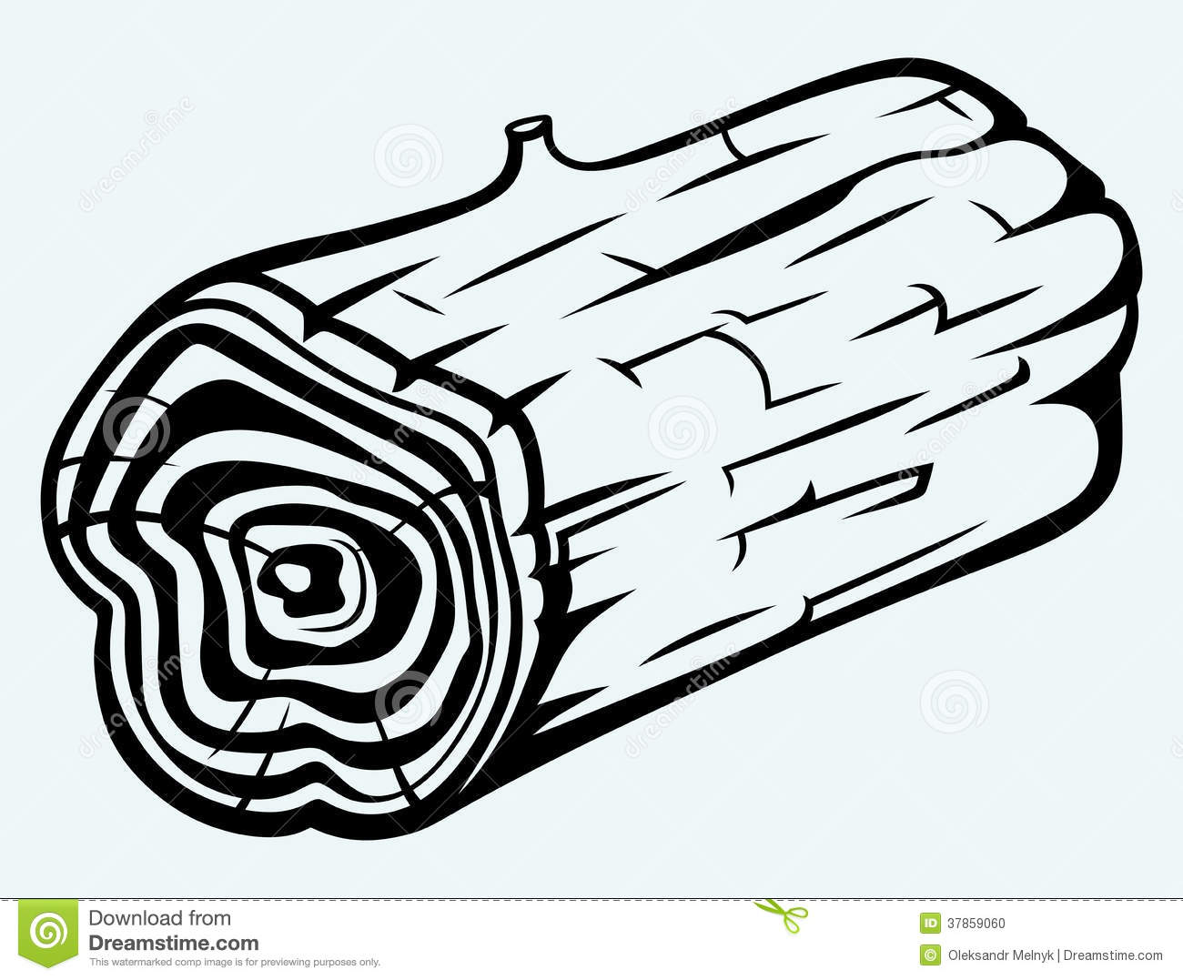 Wood log coloring page pages