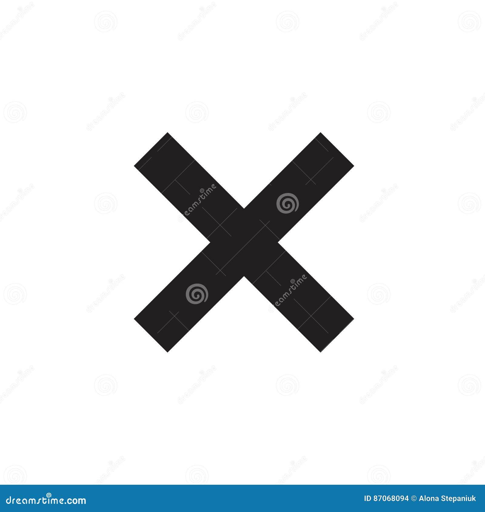Cross Sign Red Element Stock Vector Illustration Of Error 87068094
