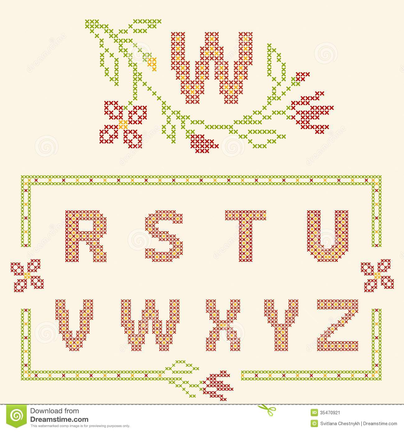 3d3ad14cfde Cross-stitch Embroidery In Ukrainian Style Stock Vector ...