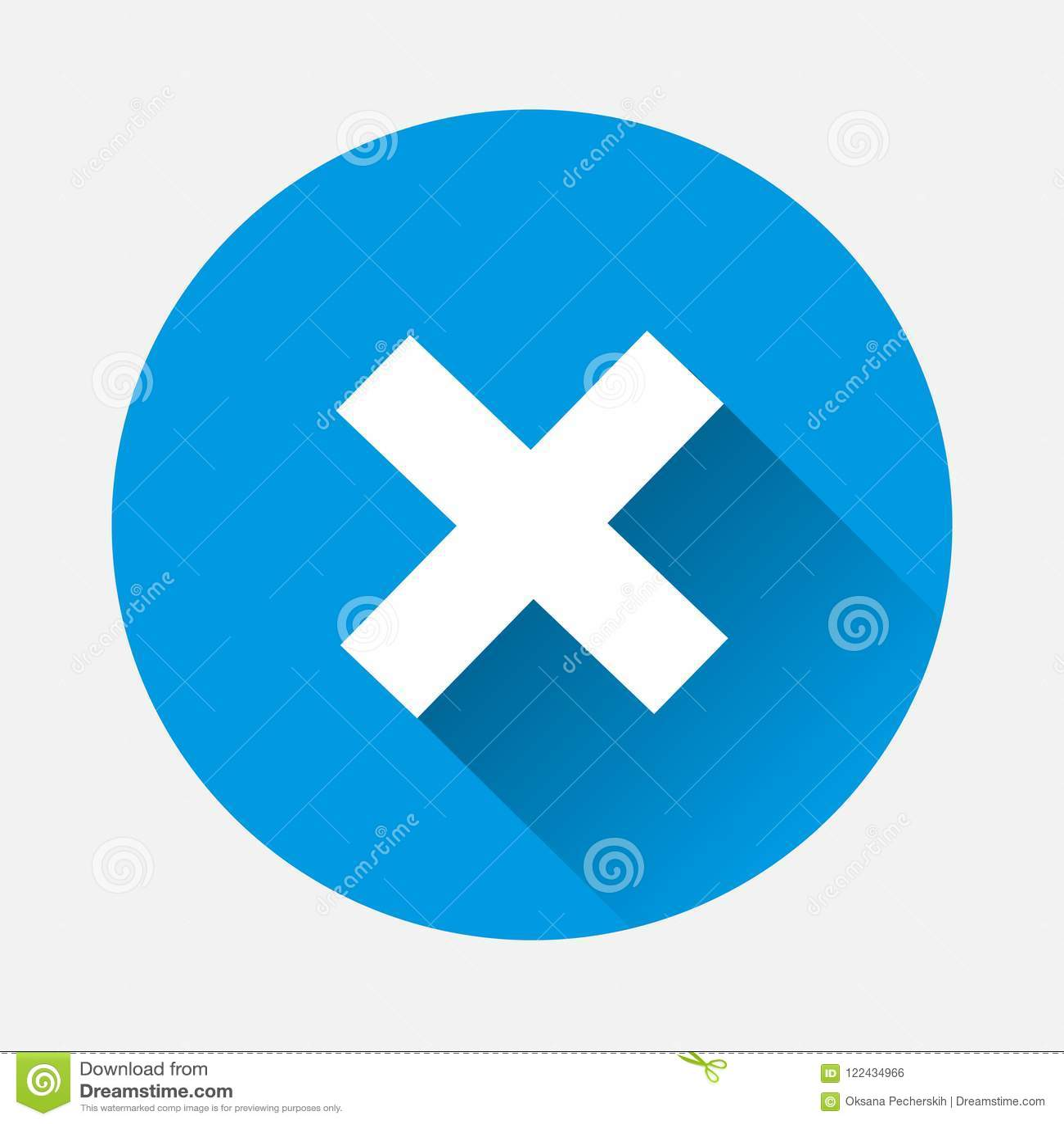 Cross-stitch Vector Icon  Cross Mark Symbol Error With