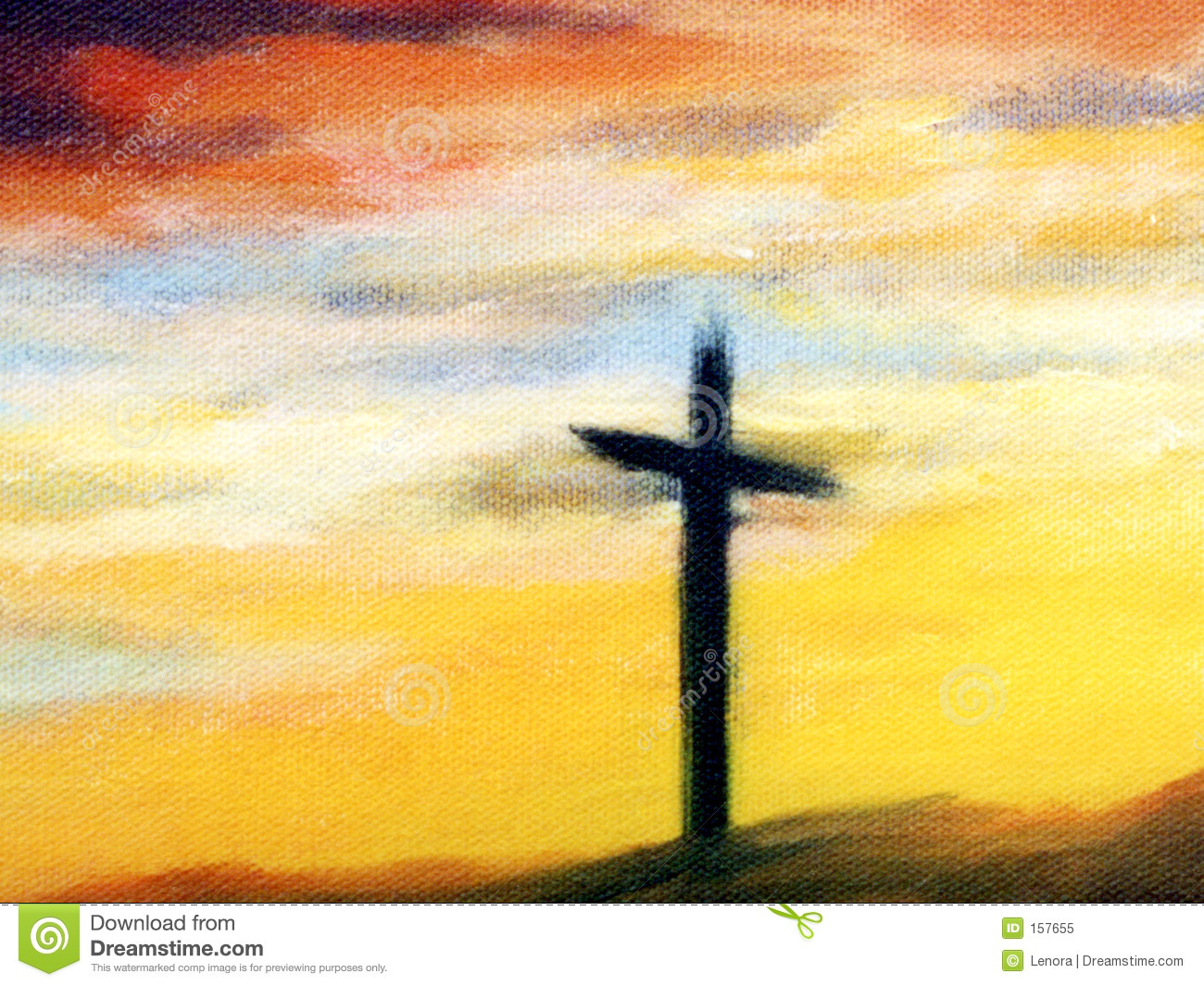 Cross at sunrise stock illustration illustration of for Cross paintings on canvas