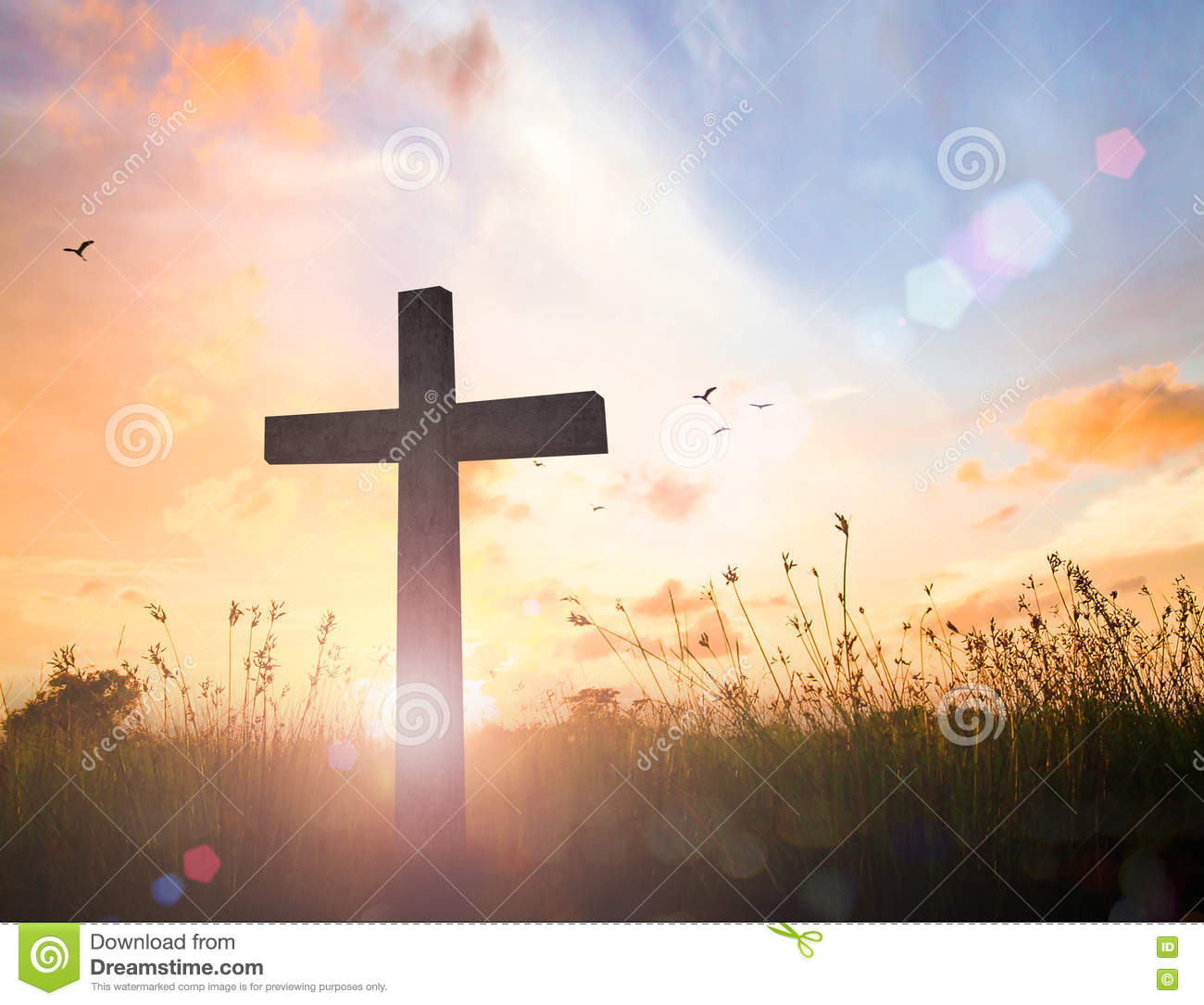 Good Friday And Easter Sunday Concept Stock Photo