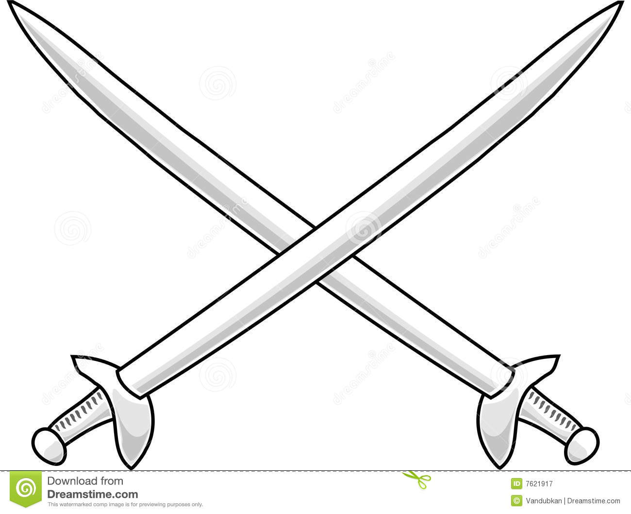 Cross Swords Royalty Free Stock Photography - Image: 7621917