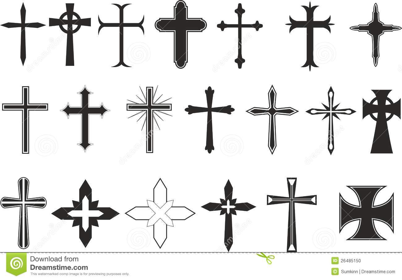 20 vector crosses for design mr no pr no 3 1807 7 White Heart Outline No Background