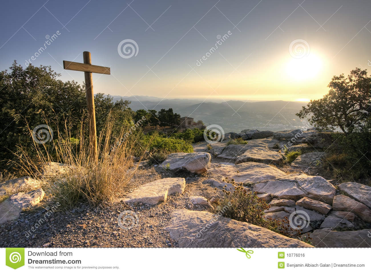 Cross at the top of the mountain