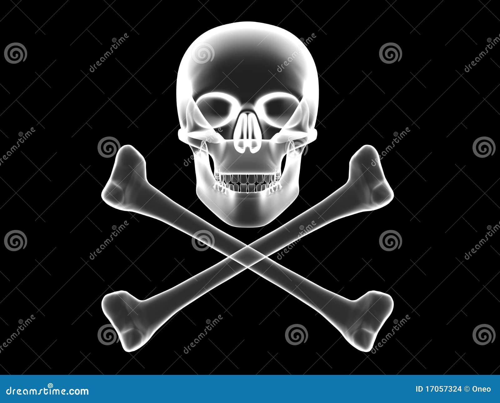 Crossbones κρανίο Χ σκιαγραφιών ακ&t