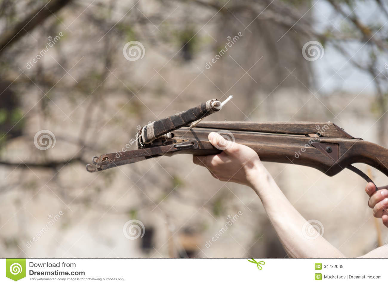 Crossbow stock image  Image of sport, steel, weapon, arrow