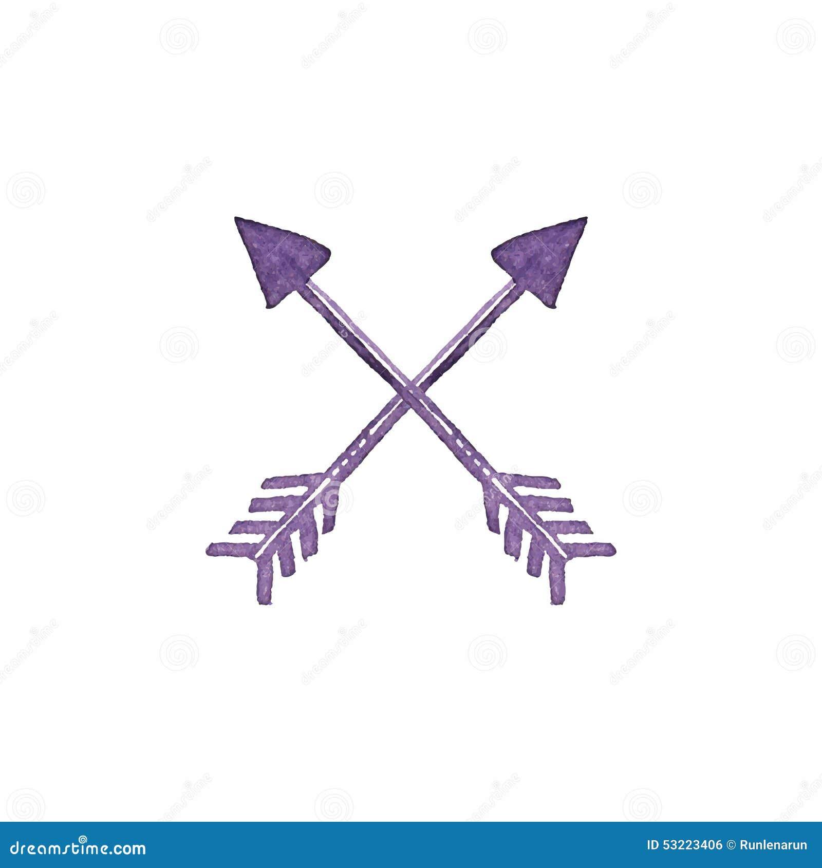 Crossed Arrows Native American Indian Arrow Stock Vector