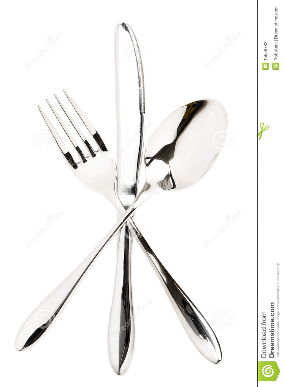 Crossed Cutlery Stock Photography Image 15556782