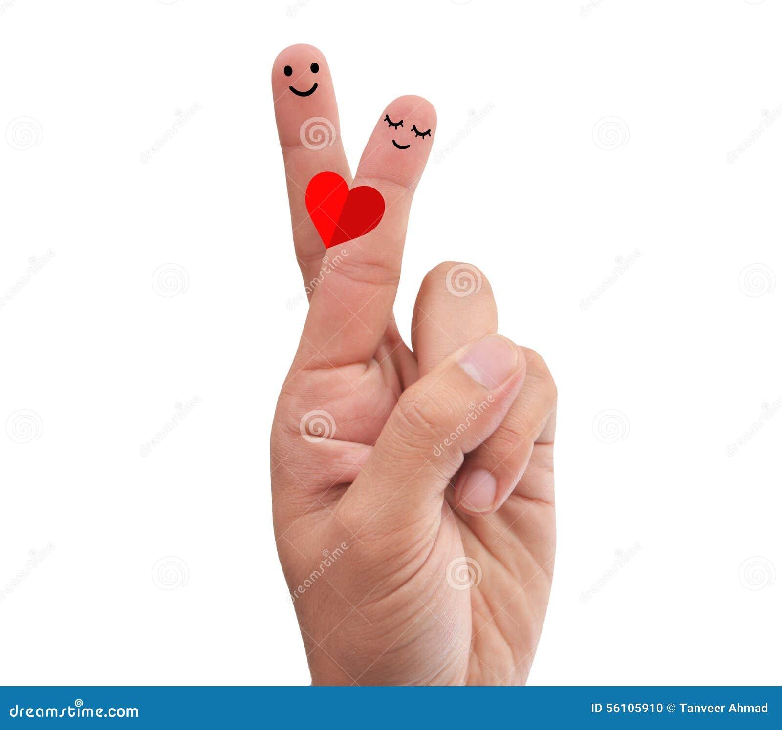 Crossed Fingers Making Romantic Pose Stock Photo Image Of Iphone6