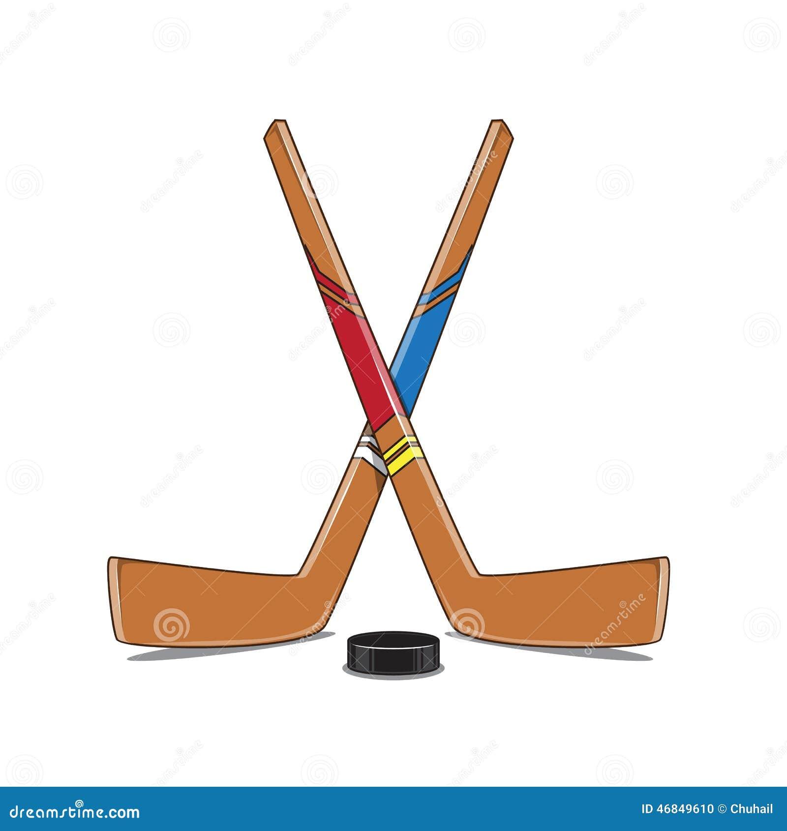 Crossed hockey sticks and puck stock vector illustration of national season 46849610 - Dessin de hockey ...