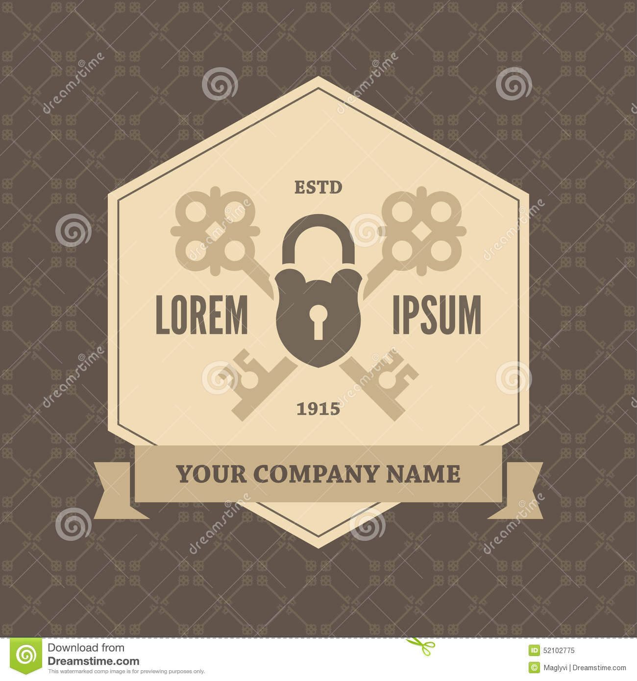 Poster design key - Background Banner Crossed Design Key Keys Lock Pattern Poster