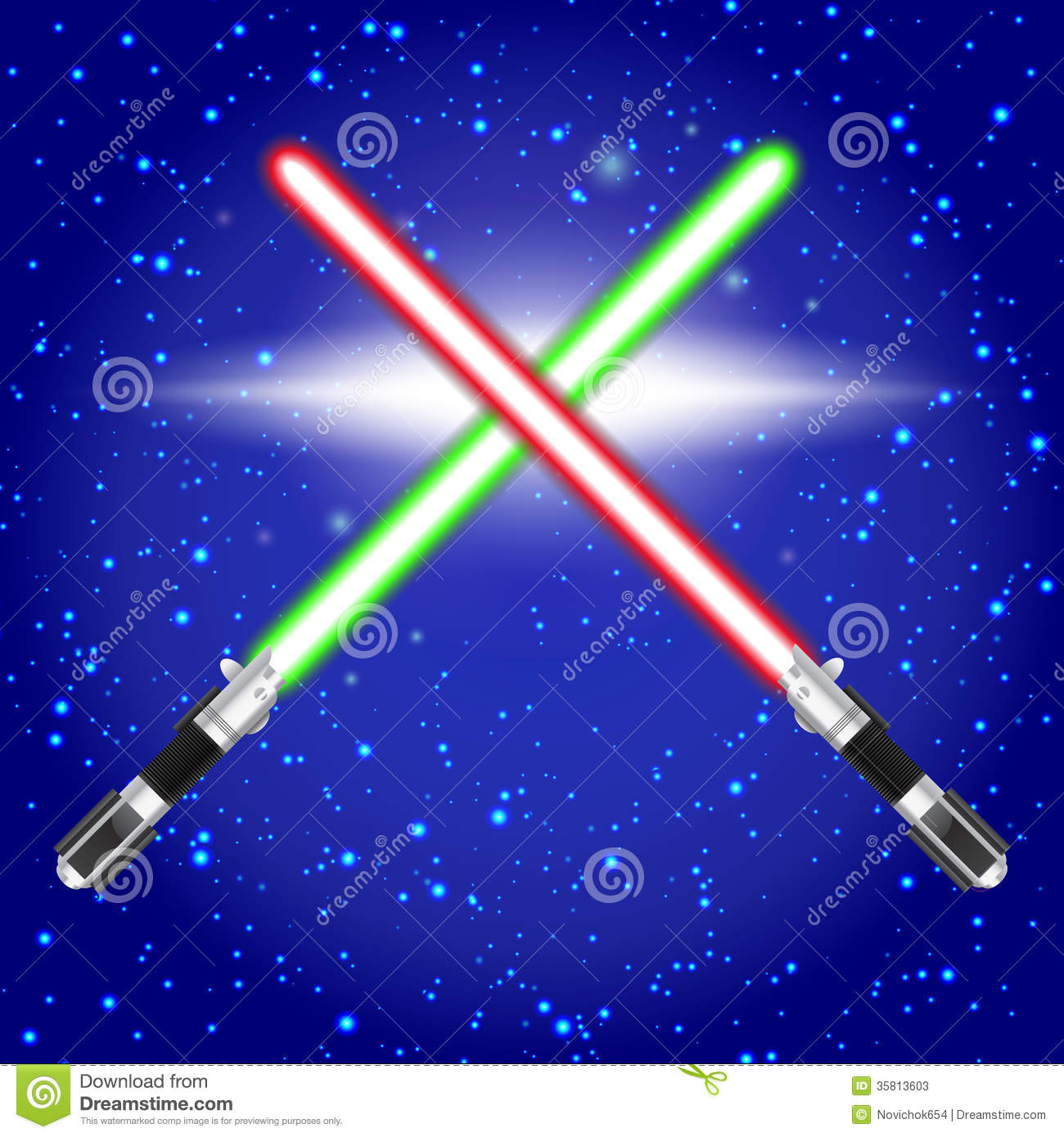 Star Wars Cake Light Sabers