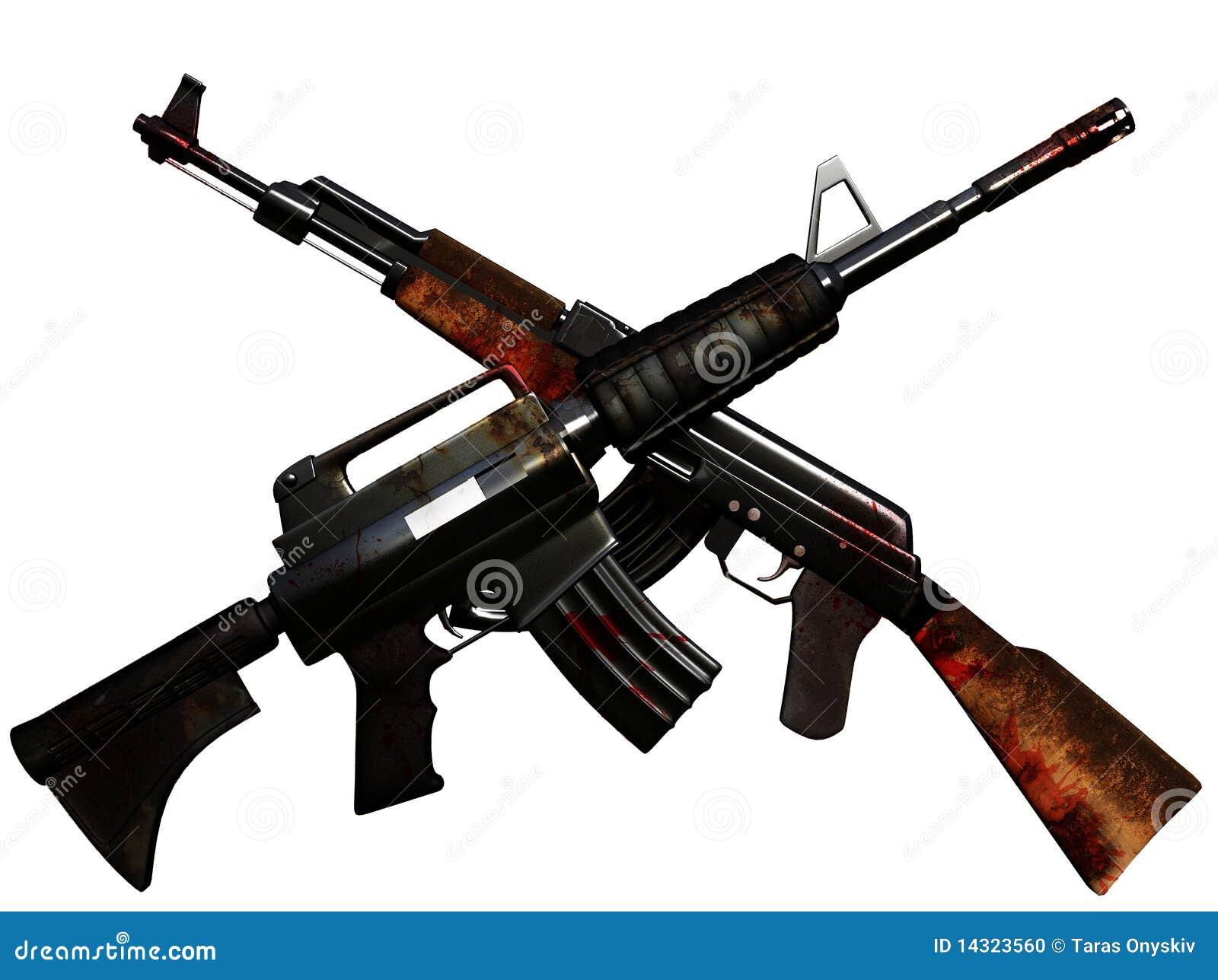 crossed machineguns stock photo image 14323560 ak 47 vector art ak 47 vector .cdr