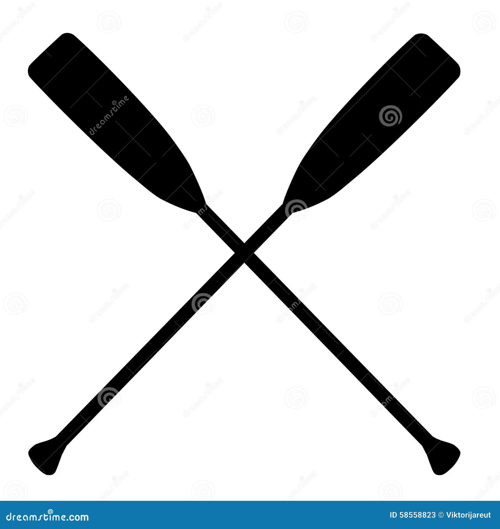 Crossed oars stock illustration. Illustration of cross ...