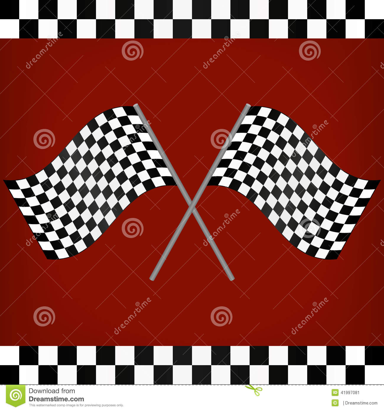 Crossed Racing Checkered Flags Stock Vector - Image: 41997081