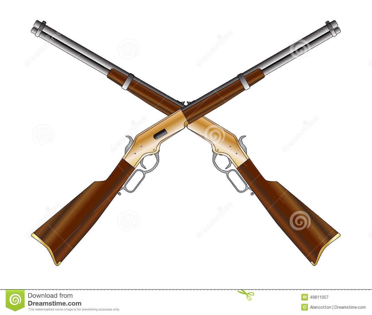 Crossed Rifles stock image. Image of weapon, pair