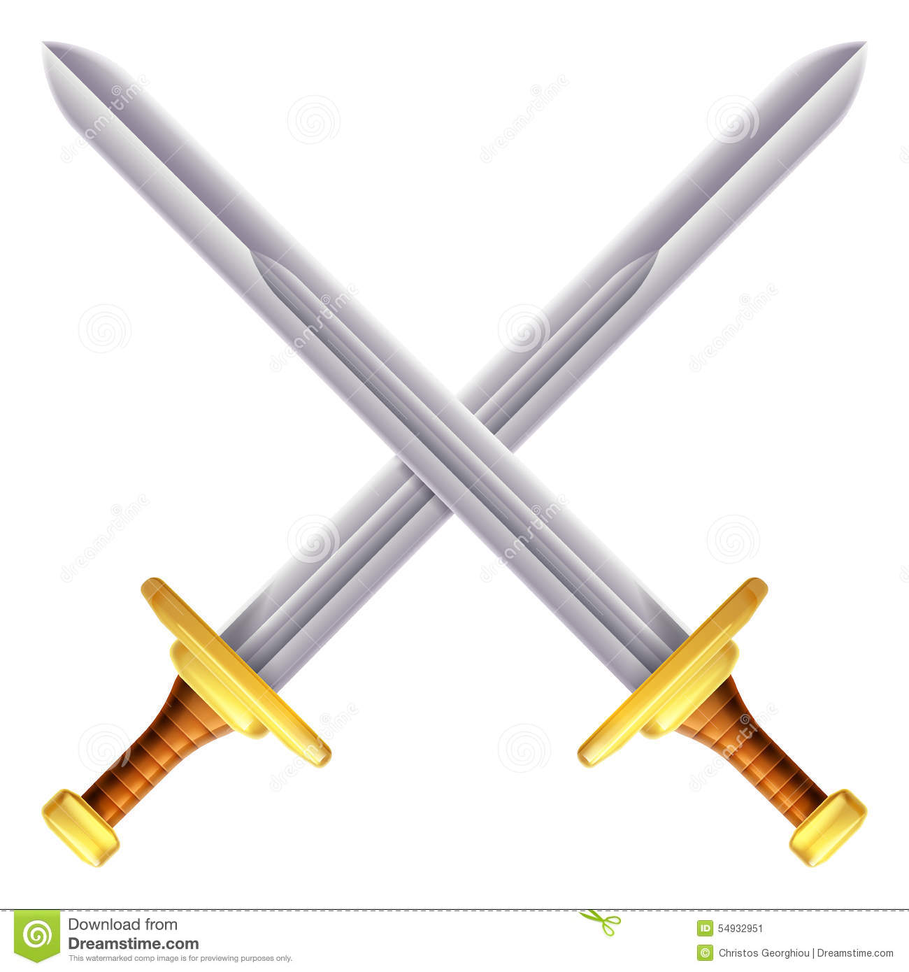 Fencing swords crossed