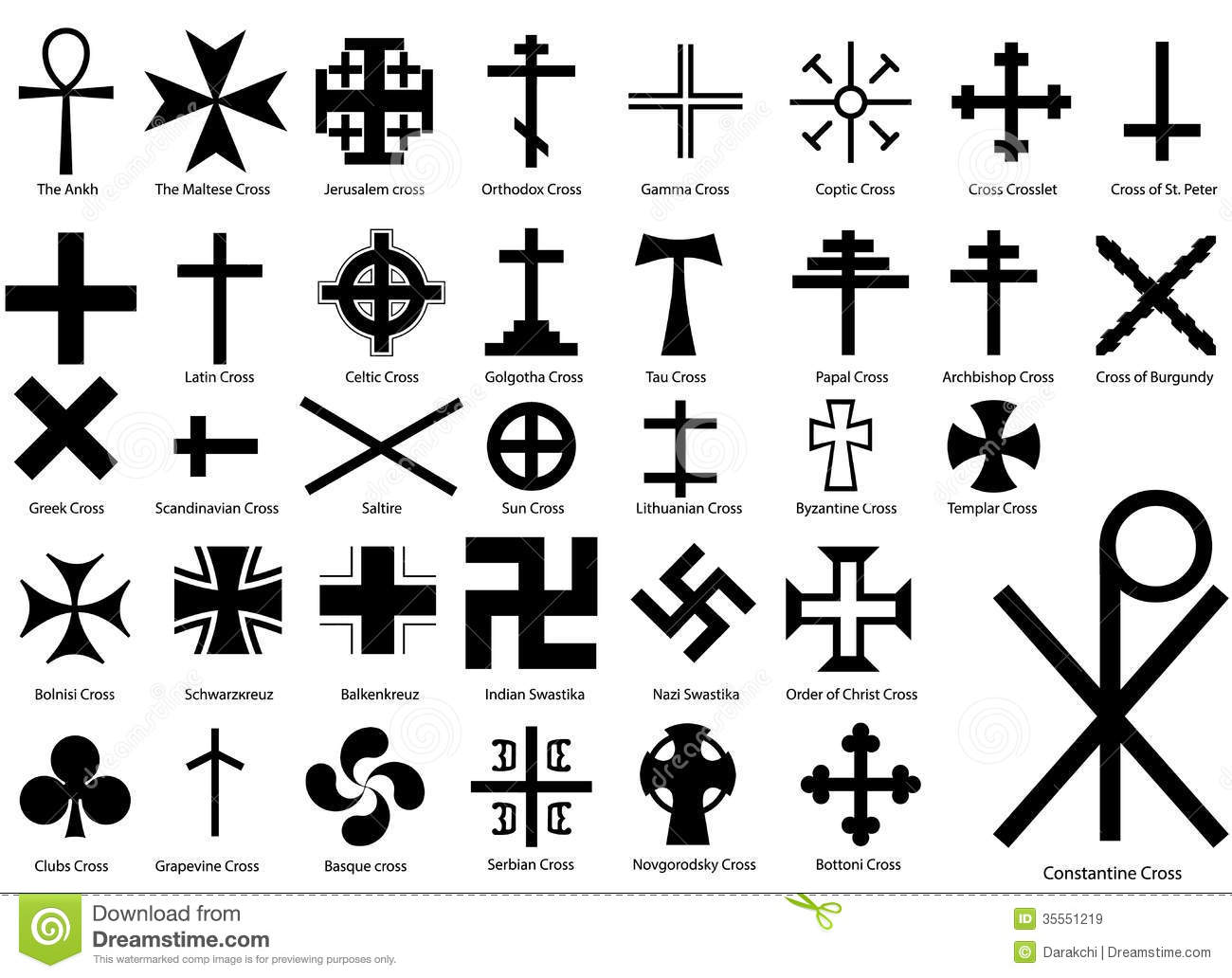 Crosses Illustration Set Royalty Free Stock Images - Image: 35551219