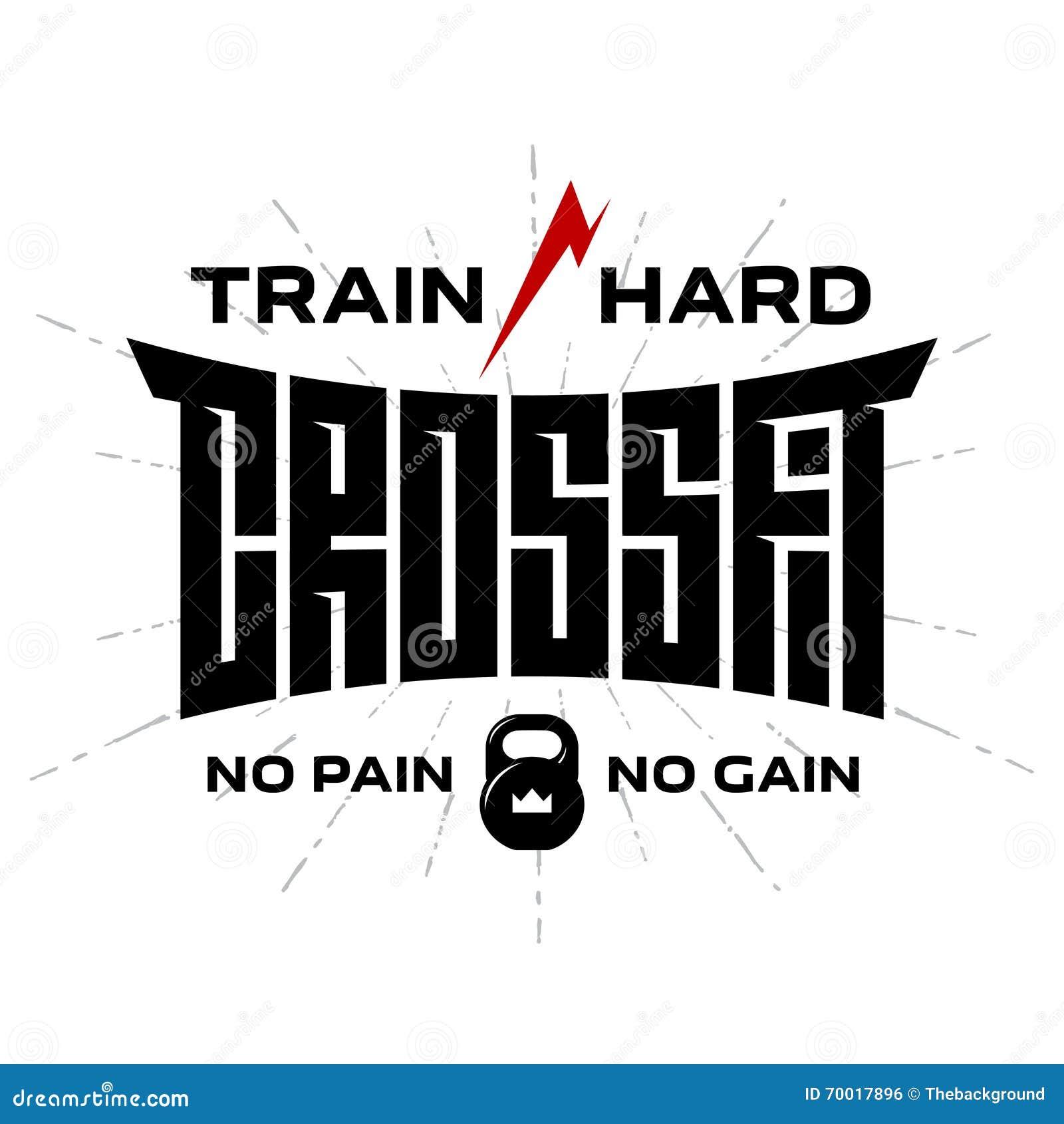 Crossfit -原始的字法 T恤杉或健身房的传染媒介印刷品