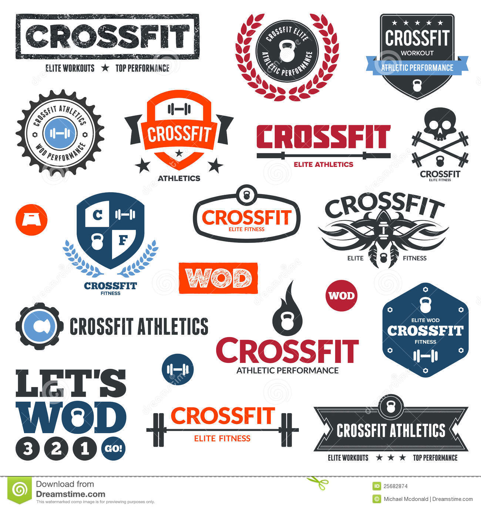 Crossfit athletics graphics