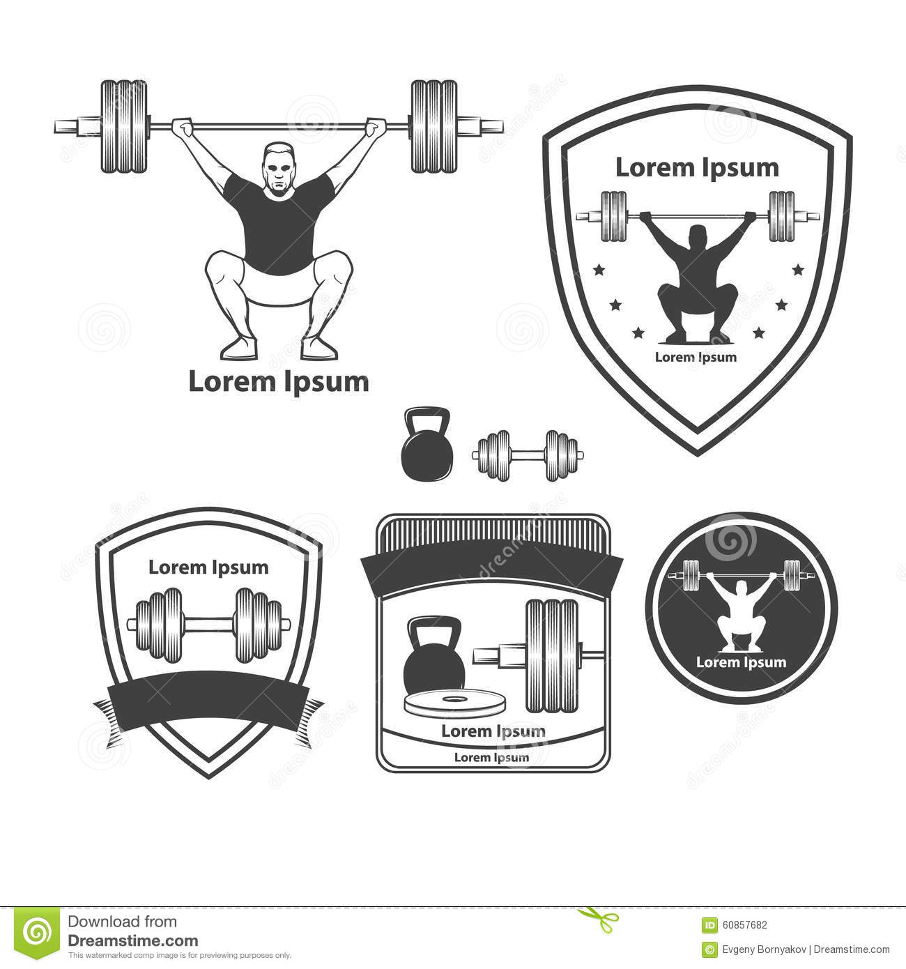 crossfit stock illustration illustration of athletic 60857682