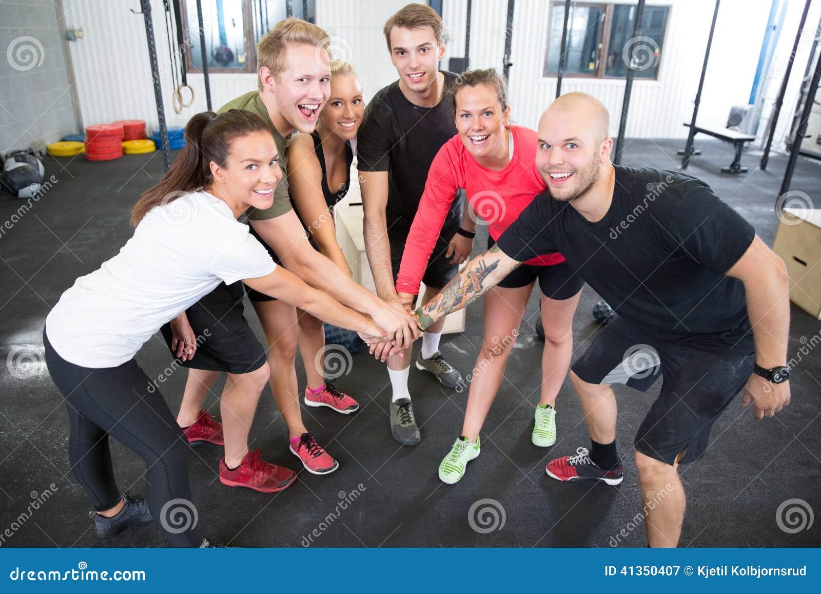 Crossfit workout team motivation