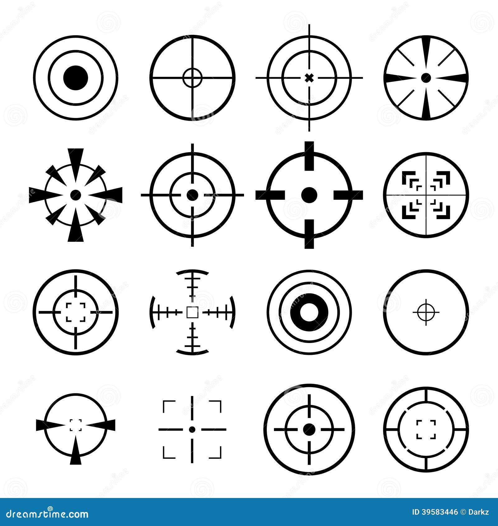 Crosshair Icon Stock Illustration