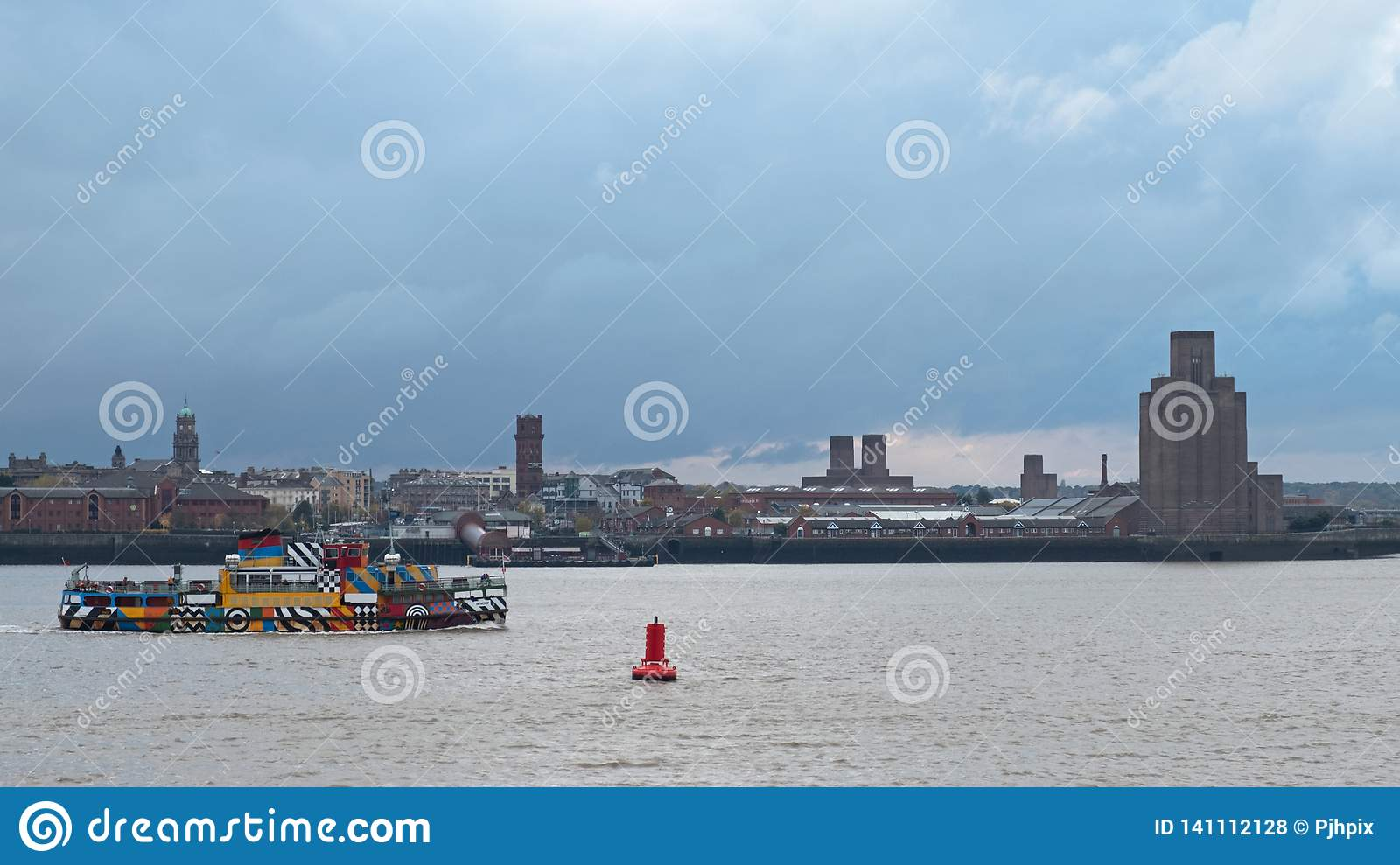 Crossing The River Mersey By Ferry Editorial Stock Photo ... on