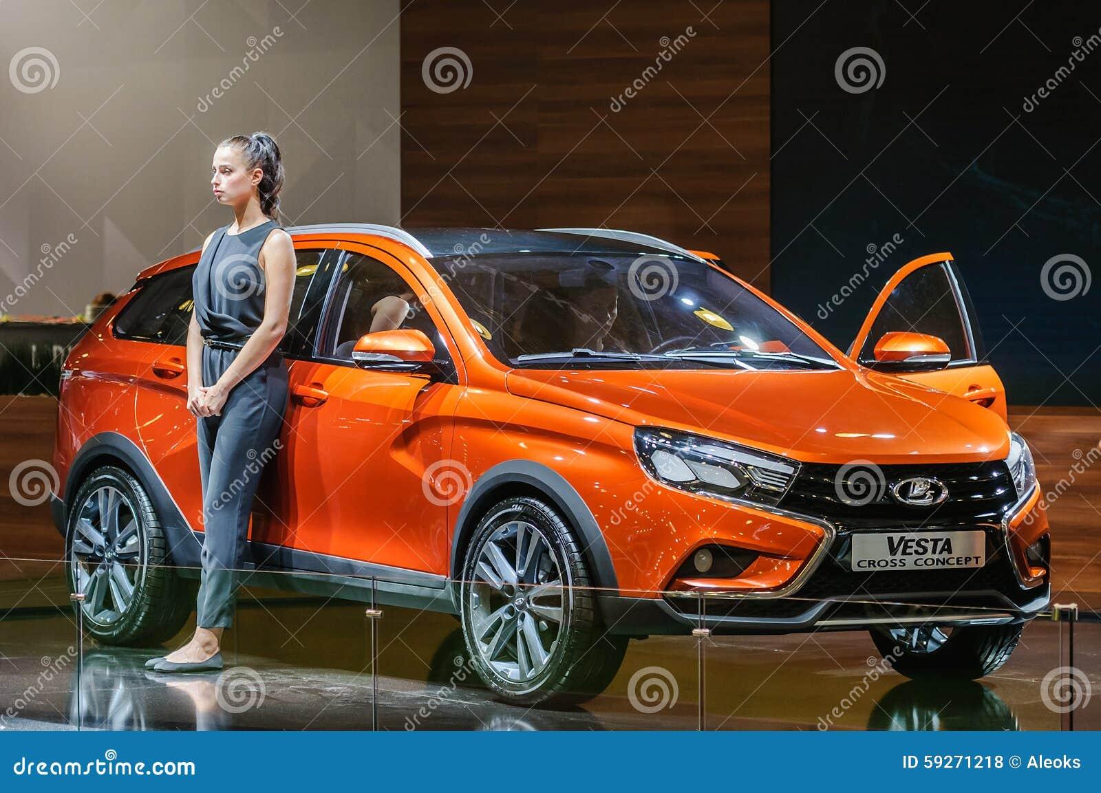 Crossover Lada Vesta Cross Concept Editorial Stock Photo ...