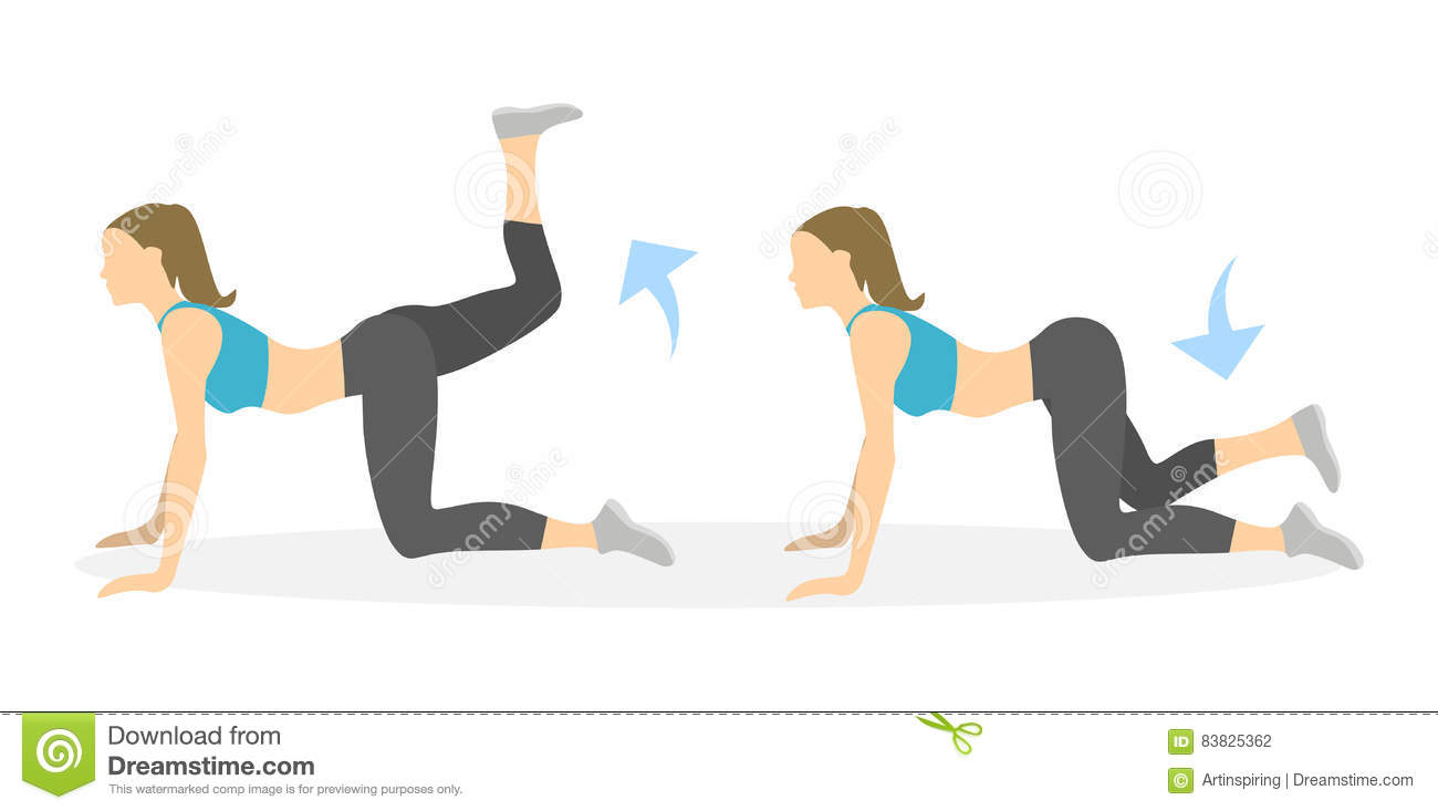 Crossovers Exercise For Legs. Stock Vector - Image: 83825362