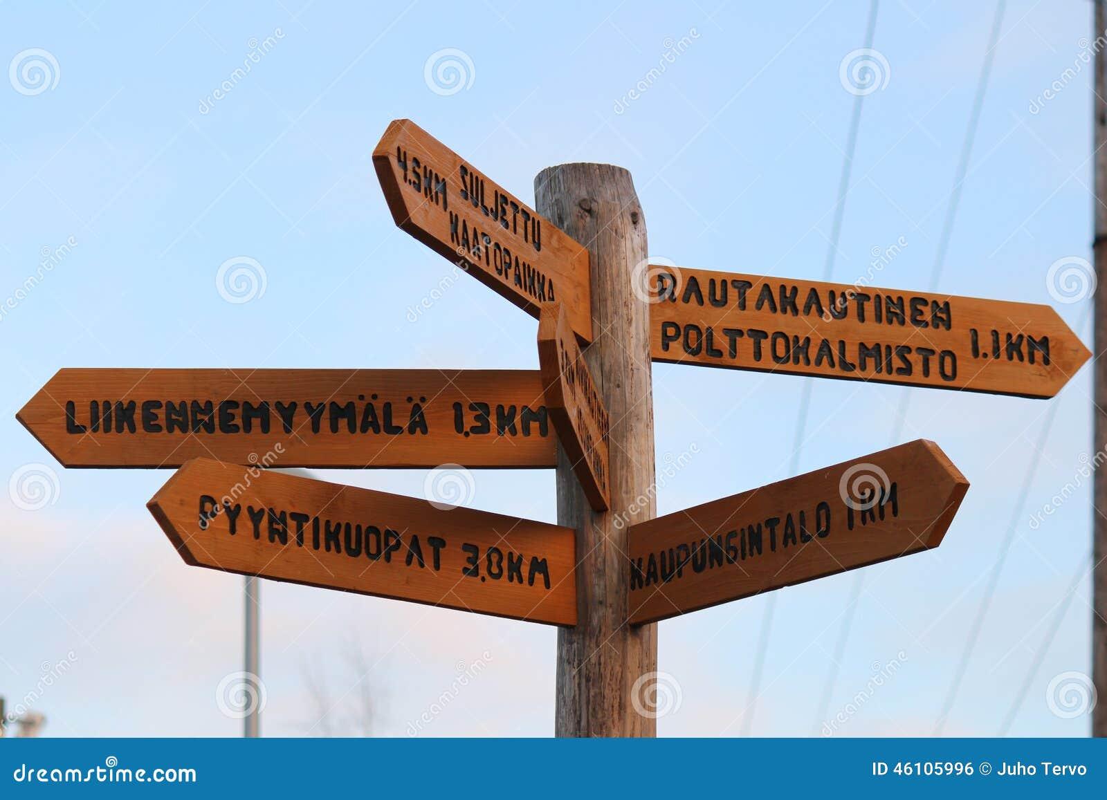 Crossroads Sign in Akaa, Finland