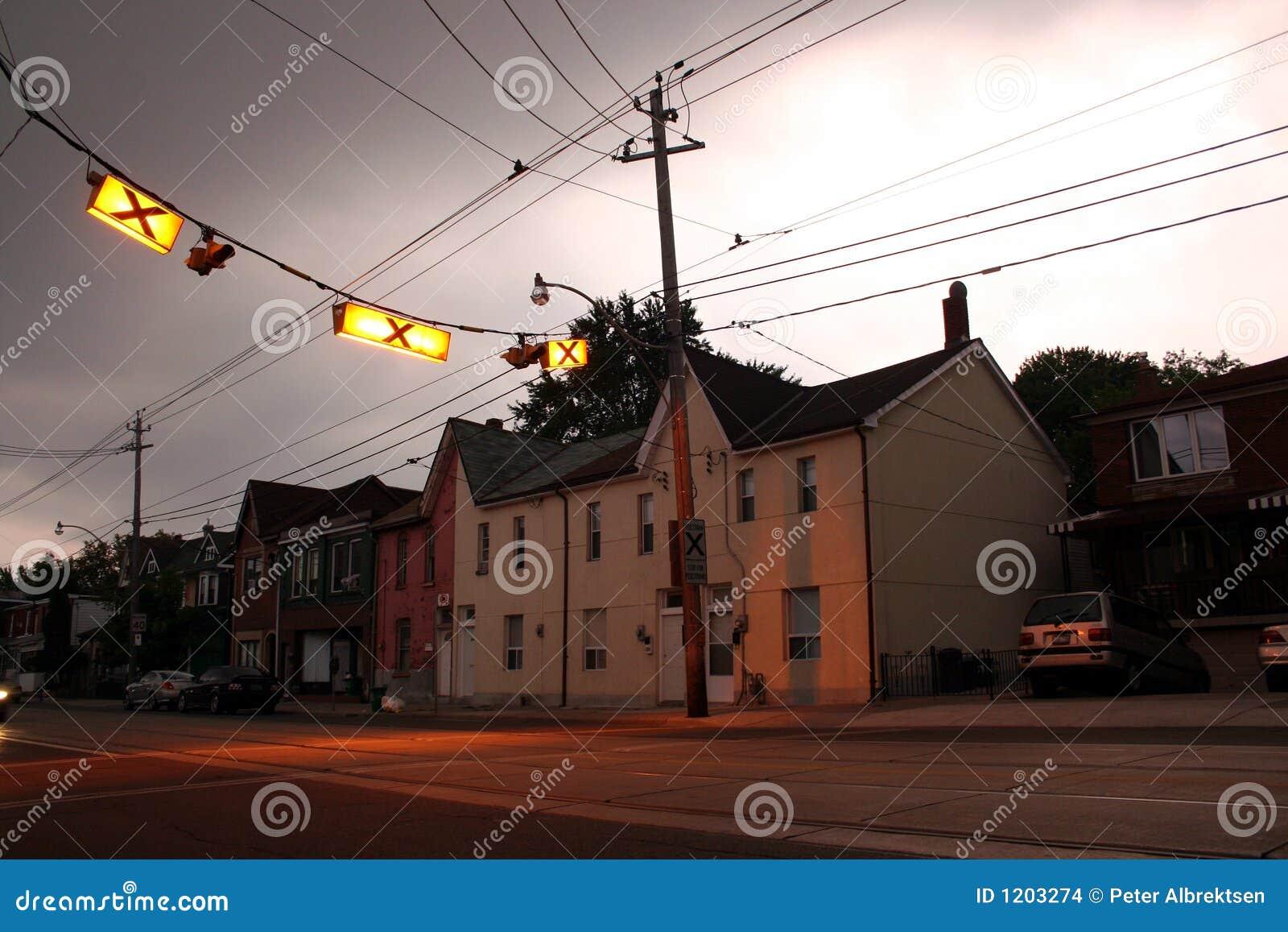 Crosswalk with homes