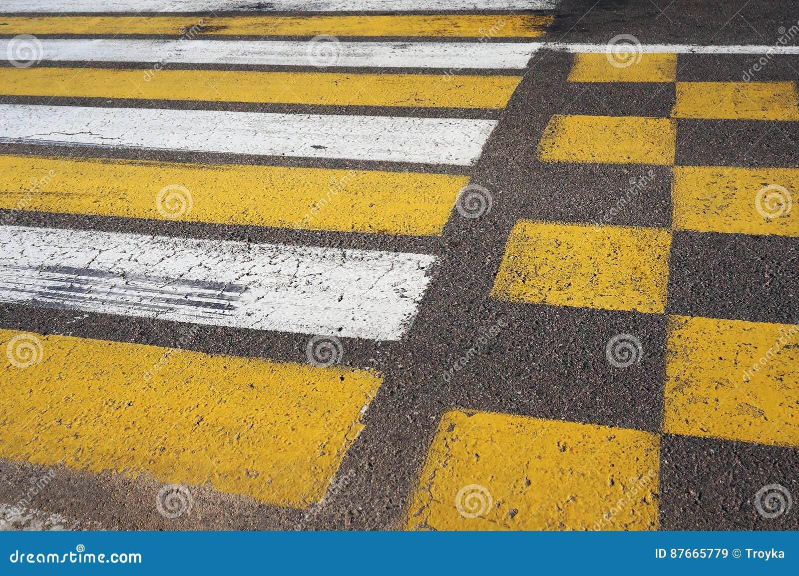 Crosswalk Inscription de passage pour piétons
