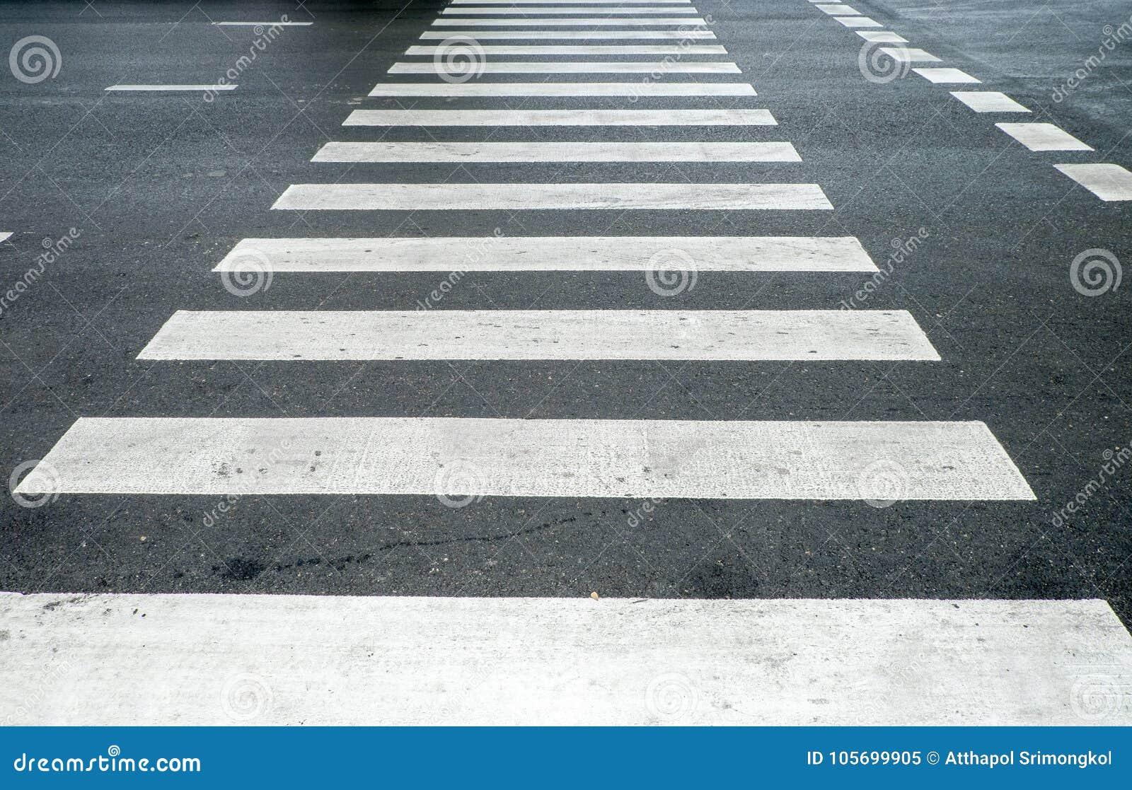 Crosswalk for walking across the street