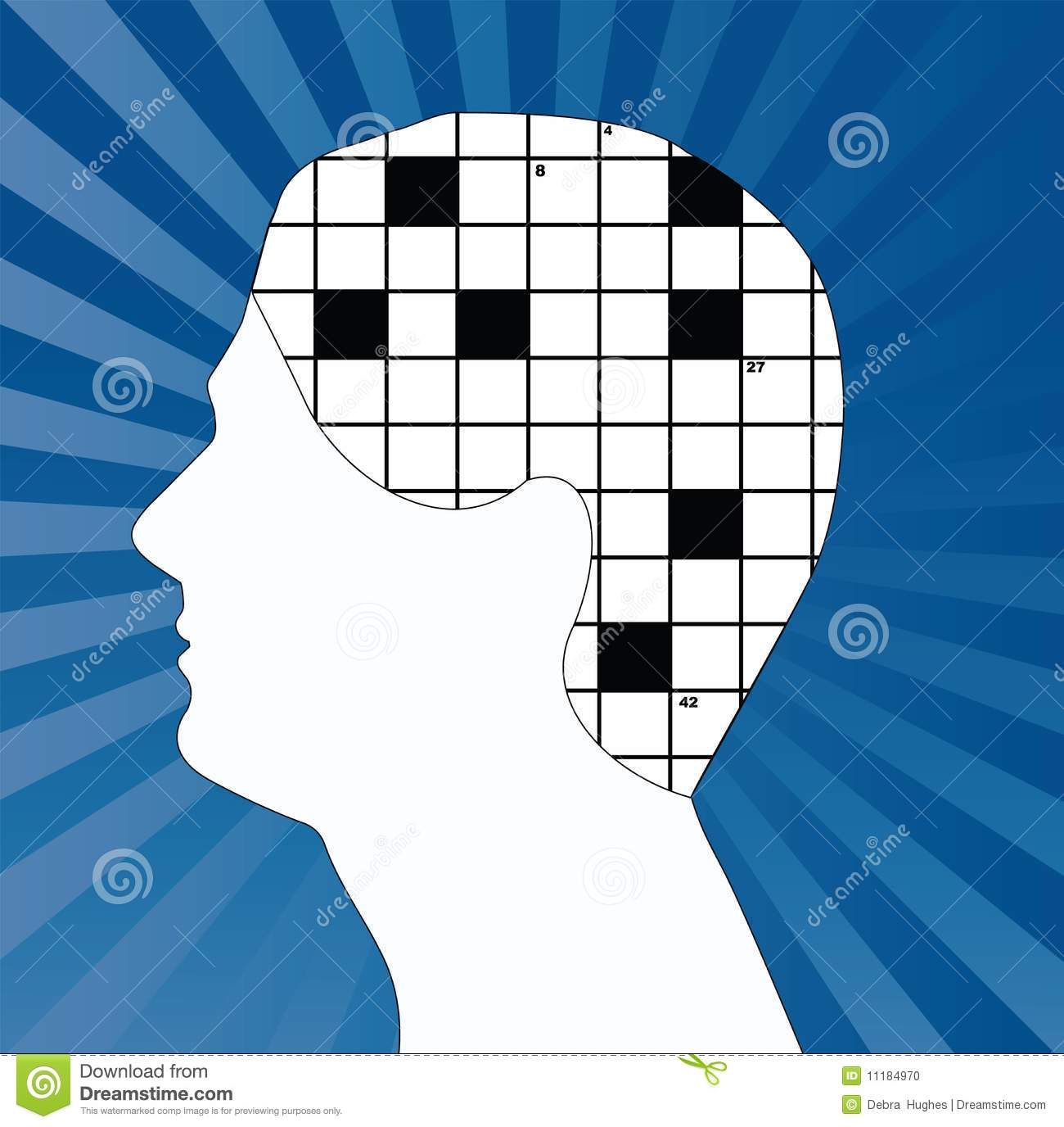 Crossword in brain collage stock vector illustration of geometric crossword brain stock photo ccuart Choice Image