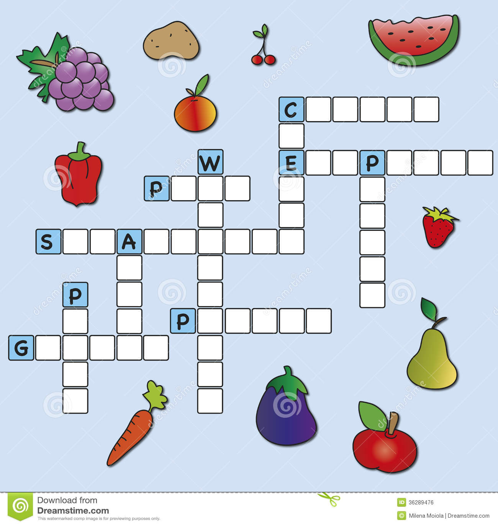 Crossword Stock Illustration Of Correct