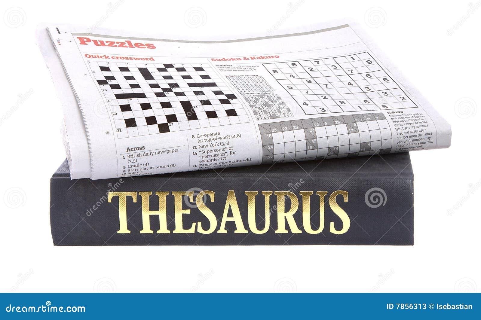 Crossword gazetowy tezaurusa wierzchołek