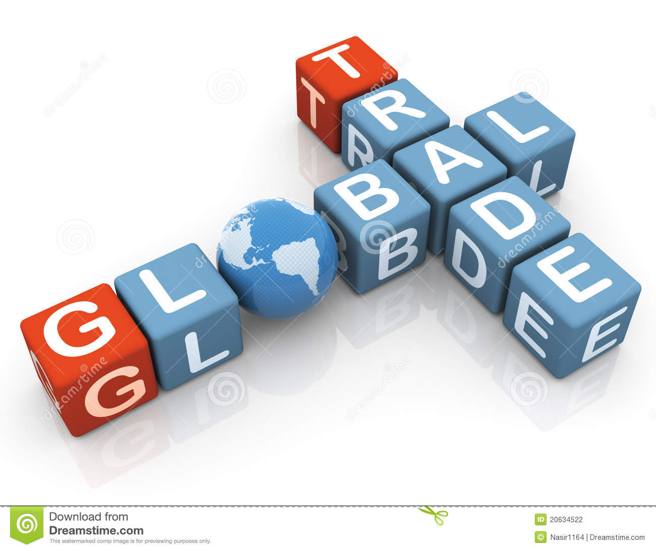 Crossword Of Global Trade Stock Photography Image 20634522