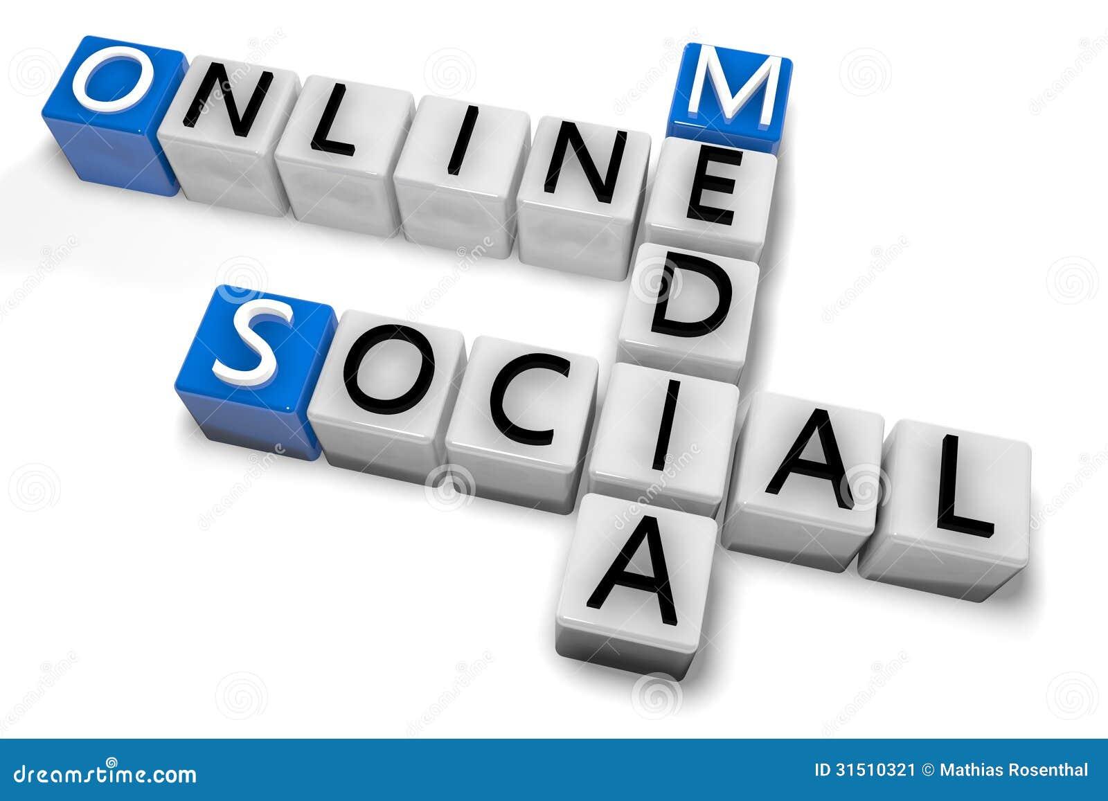 Crossword Online Social Media Stock Image Image 31510321