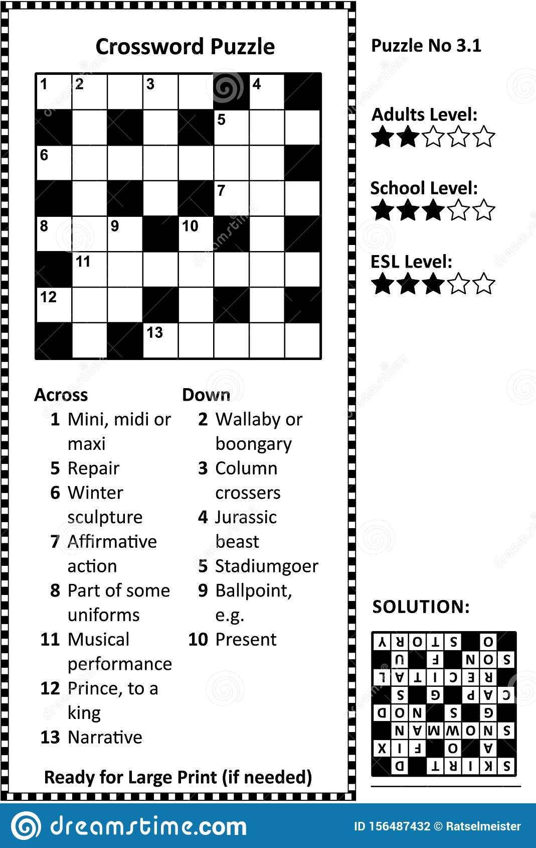 It is a photo of Printable Easy Crossword Puzzles with regard to simple