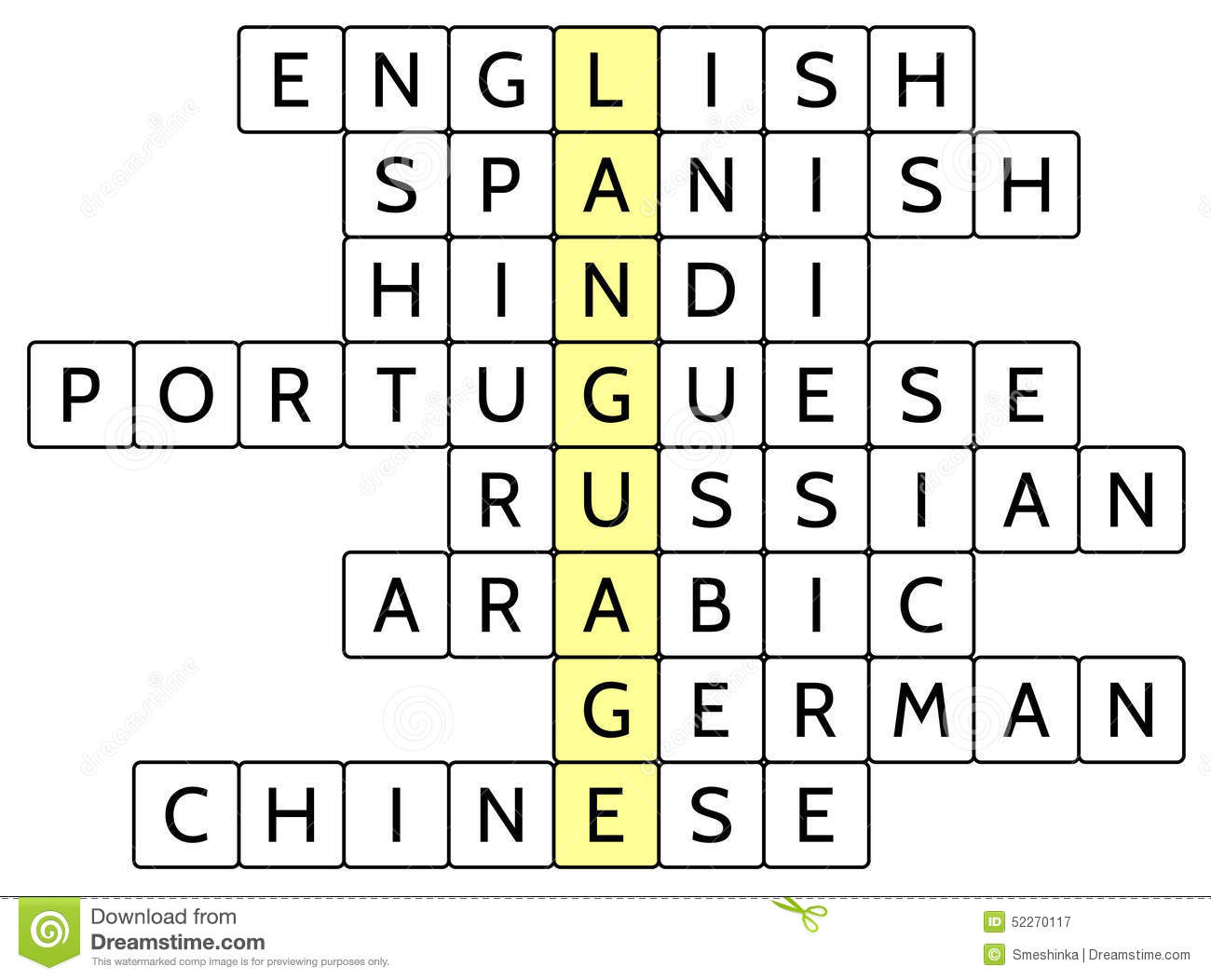 Crossword Puzzle For The Word Language And Of The Most Widely - What is the most widely spoken language in the world